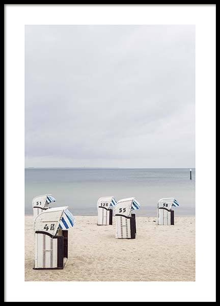 Timmendorf Beach Poster in the group Prints / Nature at Desenio AB (10468)