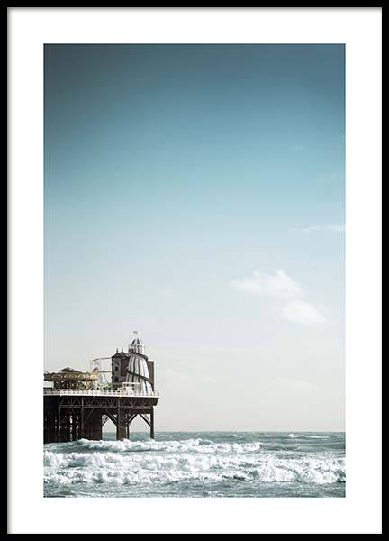 Helter Skelter Brighton Poster in the group Prints / Nature at Desenio AB (10472)