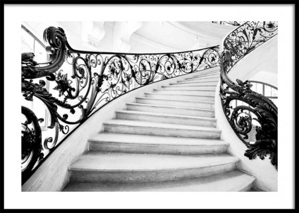 Art Nouveau Staircase Poster in the group Prints / Black & white at Desenio AB (10484)