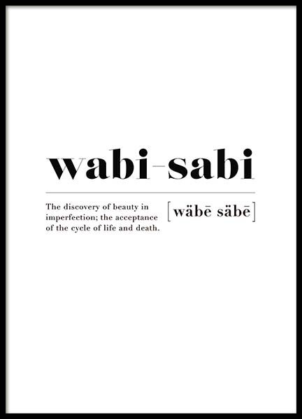 Wabi-sabi Poster in the group Prints / Typography & quotes at Desenio AB (10502)