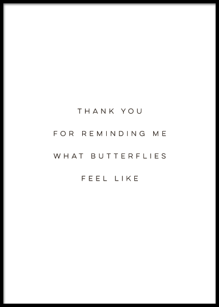 Butterflies Poster in the group Prints / Typography & quotes at Desenio AB (10504)