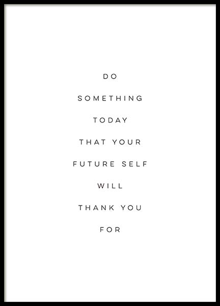 Your Future Self Poster in the group Prints / Typography & quotes at Desenio AB (10505)