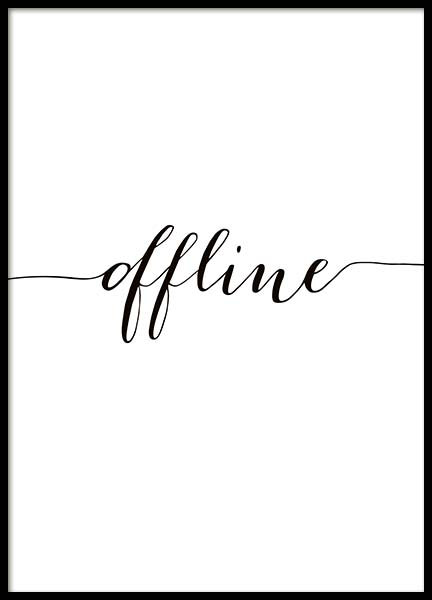 Offline Poster in the group Prints / Typography & quotes at Desenio AB (10509)