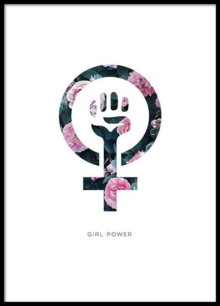 Girl Power Flower Poster in the group Prints / Kids wall art at Desenio AB (10514)
