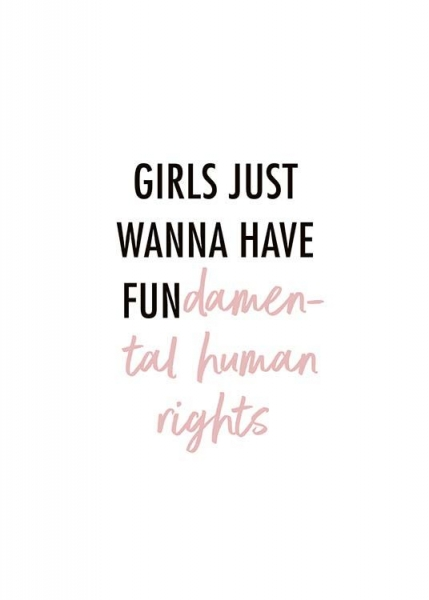 Girls Wanna Have Fun Poster in the group Prints / Typography & quotes at Desenio AB (10525)