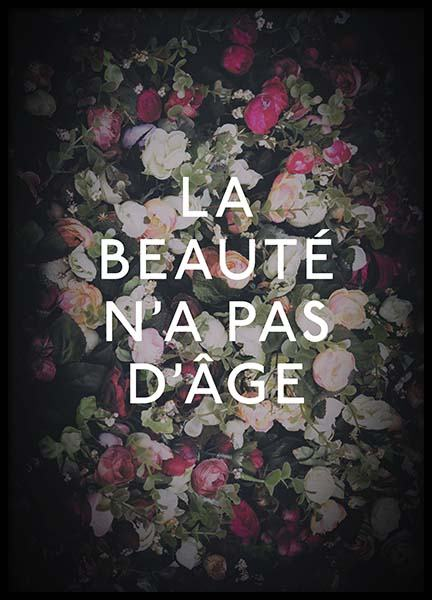 La Beauté Poster in the group Prints / Typography & quotes at Desenio AB (10531)