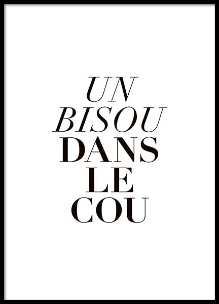 Bisou Dans Le Cou Poster in the group Prints / Sizes /  at Desenio AB (10533)