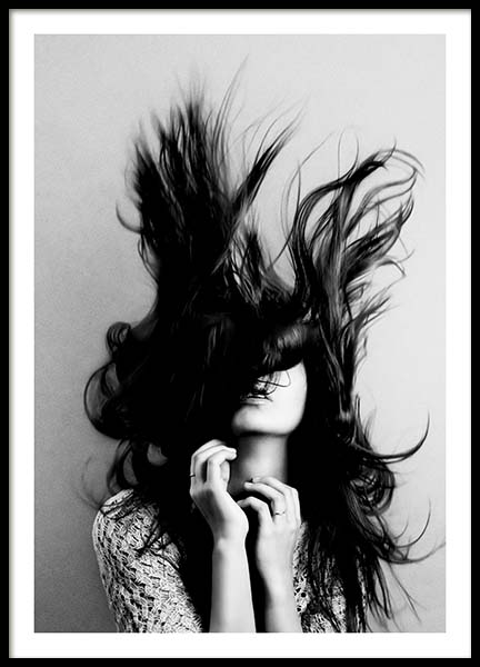Hair Poster in the group Prints / Black & white at Desenio AB (10547)