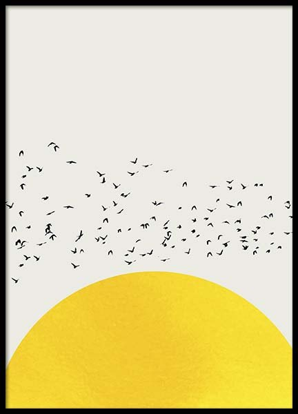 A Thousand Birds Poster in the group Prints / Graphical at Desenio AB (10577)