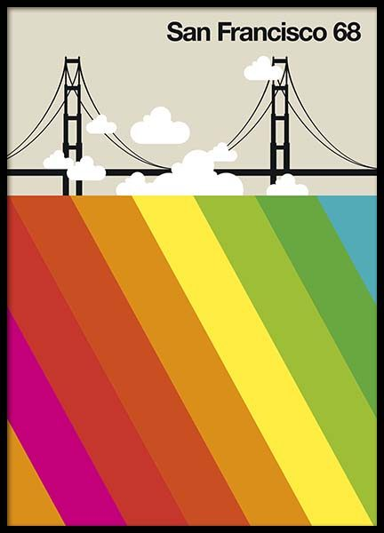 San Francisco 68 Poster in the group Prints / Graphical at Desenio AB (10589)