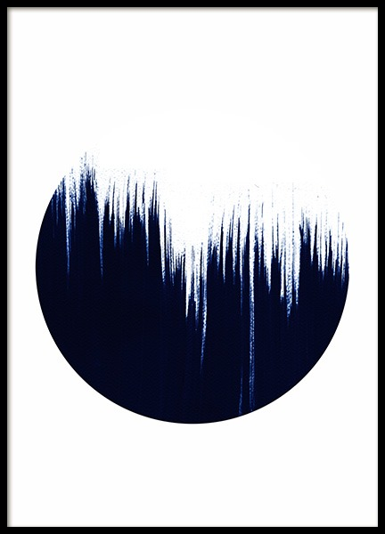 Blue stroke circle No2 Poster in the group Prints / Sizes / 50x70cm | 20x28 at Desenio AB (10592)