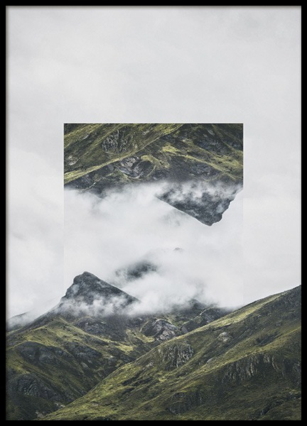 Mirrored Andes Poster in the group Prints / Nature at Desenio AB (10614)