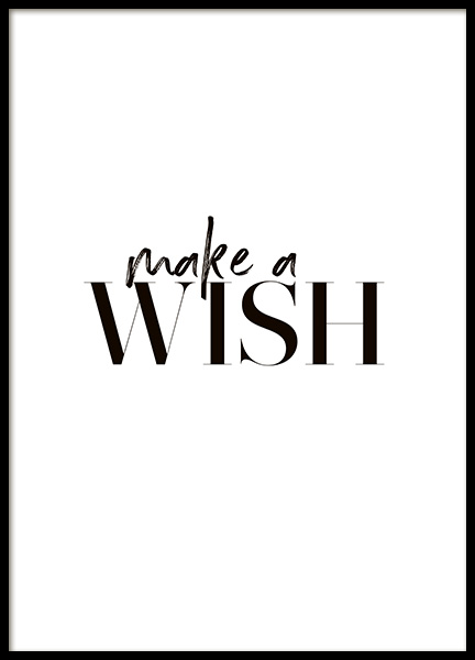 Wish Poster in the group Prints / Typography & quotes at Desenio AB (10621)