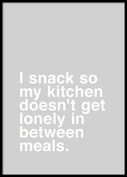 I Snack Poster in the group Prints / Typography & quotes at Desenio AB (10623)