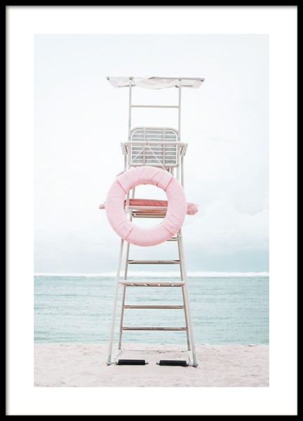Lifeguard Seat Poster in the group Prints / Photographs at Desenio AB (10634)