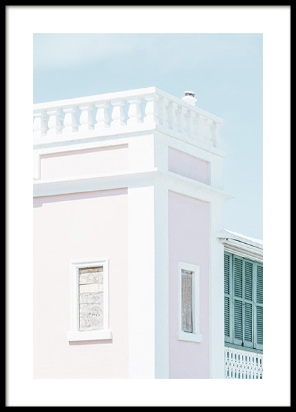 Pastel Facade Poster in the group Prints / Sizes / 50x70cm | 20x28 at Desenio AB (10636)