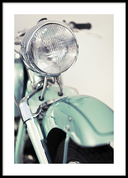 Retro Motorcycle Poster in the group Prints / Photographs at Desenio AB (10639)