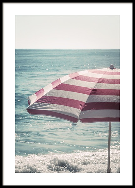 Beach Umbrella Poster in the group Prints / Sizes / 50x70cm | 20x28 at Desenio AB (10640)