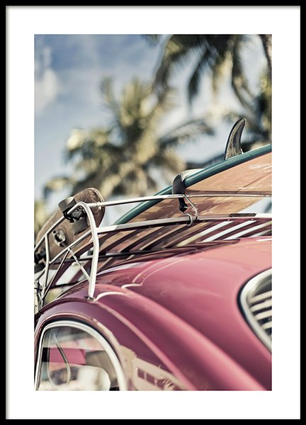 Vintage Surf Car Poster in the group Prints / Sizes / 50x70cm | 20x28 at Desenio AB (10644)