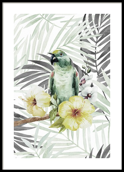 Tropical Bird No2 Poster in the group Prints / Floral at Desenio AB (10649)