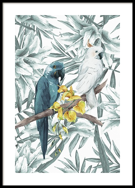 Tropical Bird No3 Poster in the group Prints / Animals at Desenio AB (10650)