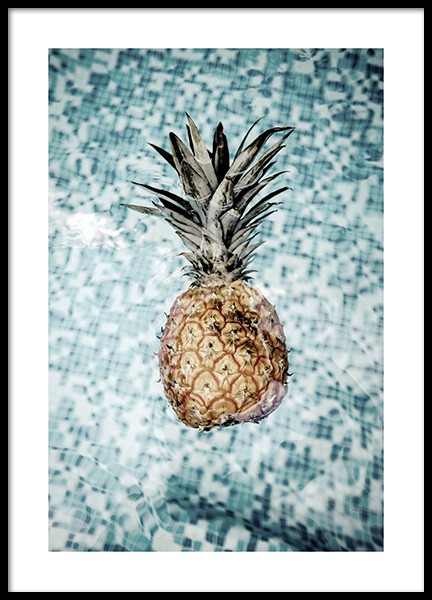 Floating Pineapple Poster in the group Prints / Photographs at Desenio AB (10659)