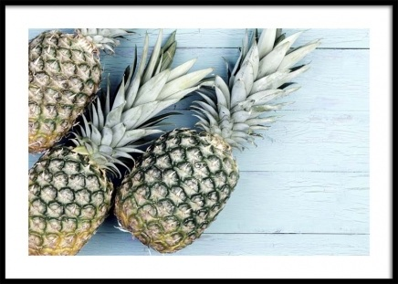 Pineapples on Wood Poster in the group Prints / Kitchen at Desenio AB (10661)