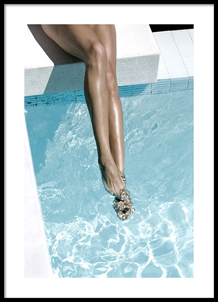 Legs in Pool Poster in the group Prints / Photographs at Desenio AB (10669)