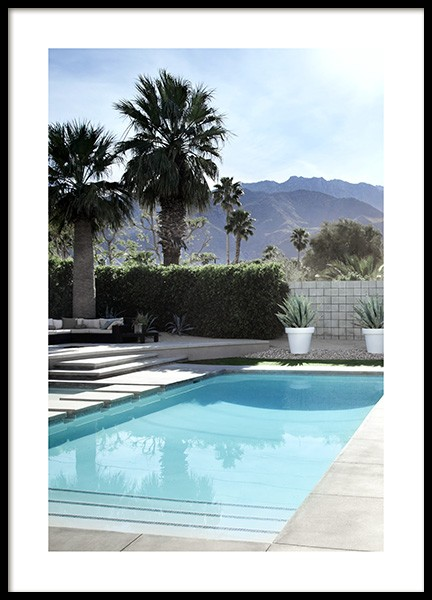 Backyard Pool Poster in the group Prints / Photographs at Desenio AB (10670)