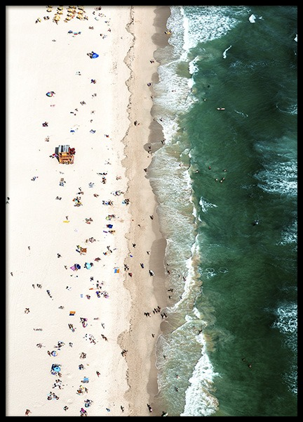 Crowded Beach Aerial Poster in the group Prints / Nature at Desenio AB (10681)