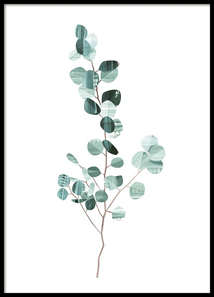 Graphic Eucalyptus Poster in the group Prints / Botanical at Desenio AB (10691)