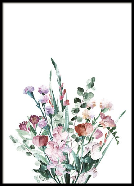 Graphic Bouquet Poster in the group Prints / Botanical at Desenio AB (10692)