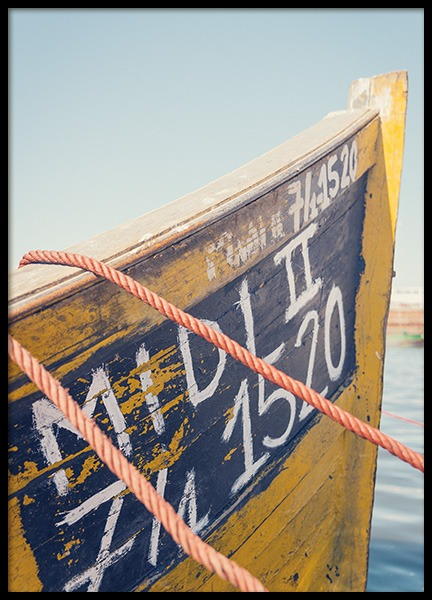 Yellow Boat Poster in the group Prints / Nature prints at Desenio AB (10699)