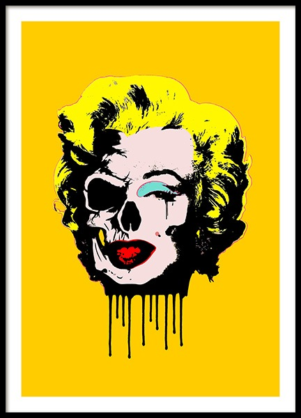 Skull Marilyn Poster in the group Prints / Illustrations at Desenio AB (10712)