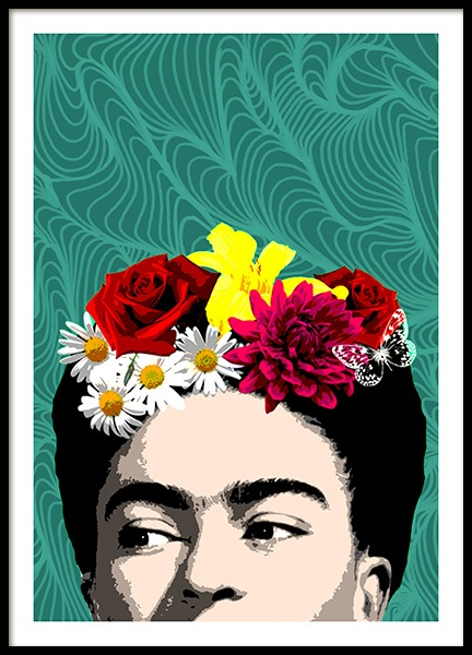 Shy Frida Poster in the group Prints / Graphical at Desenio AB (10713)