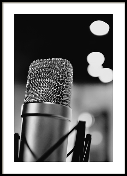The Microphone Poster in the group Prints / Photographs at Desenio AB (10719)