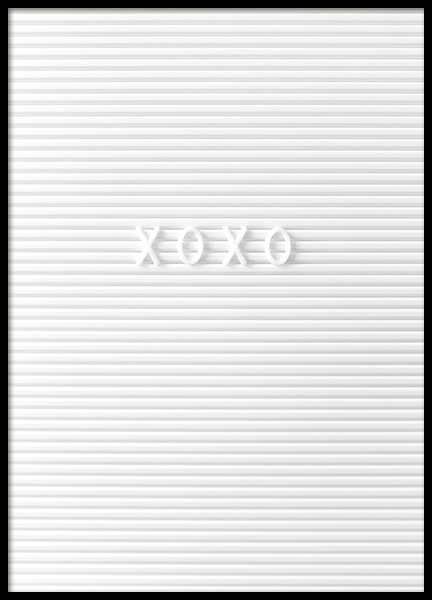 Xoxo Poster in the group Prints / Typography & quotes at Desenio AB (10724)