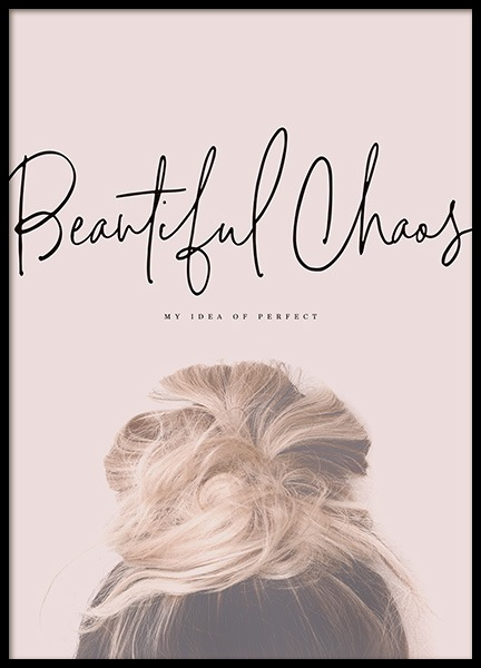 Beautiful Chaos Poster in the group Prints / Text posters at Desenio AB (10730)