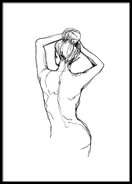 Undressed Sketch Poster in the group Prints / Art prints at Desenio AB (10743)