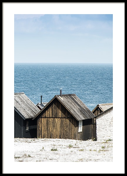 Wooden houses Poster in the group Prints / Nature at Desenio AB (10754)