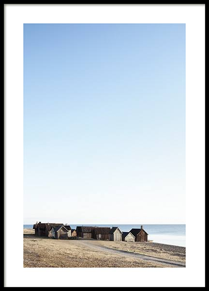Houses by Sea Poster in the group Prints / Nature at Desenio AB (10755)