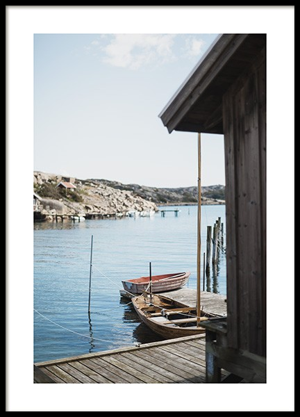 Boat House Poster in the group Prints / Sizes / 50x70cm | 20x28 at Desenio AB (10756)