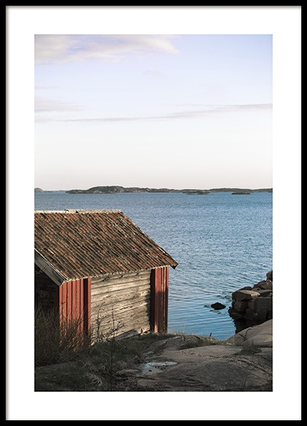 Wooden boathouse Poster in the group Prints / Nature at Desenio AB (10757)