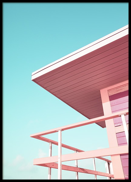 Pink Beach Tower Poster in the group Prints / Photographs at Desenio AB (10759)