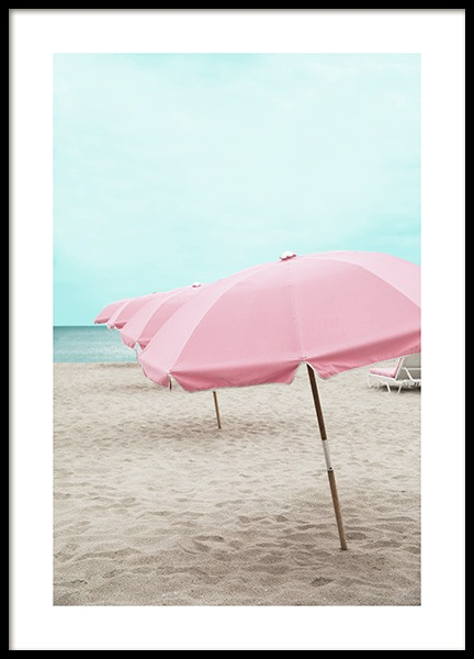 Pink Parasol Poster in the group Prints / Photographs at Desenio AB (10760)