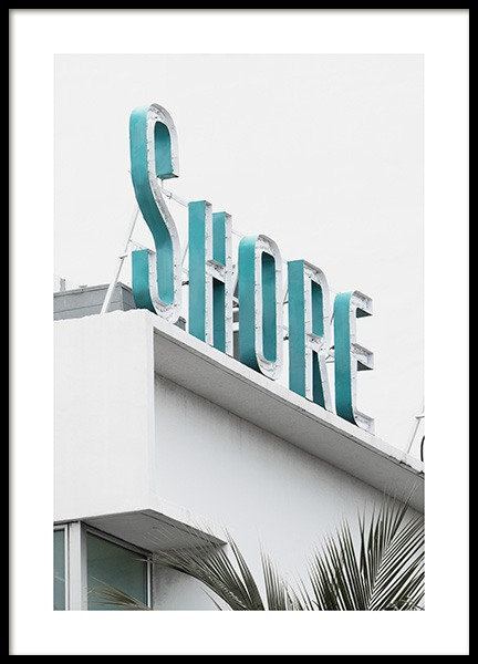 Shore Sign Poster in the group Studio Collections / Studio Coast to Coast / Miami at Desenio AB (10765)