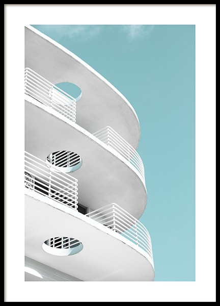 Art Deco Ocean Drive Poster in the group Prints / Photographs / Architecture at Desenio AB (10766)