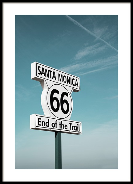 Route 66 Sign Poster in the group Studio / Coast to coast / Studio Los Angeles at Desenio AB (10778)