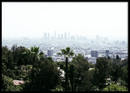 Skyline of Los Angeles Poster in the group Prints / Nature at Desenio AB (10787)