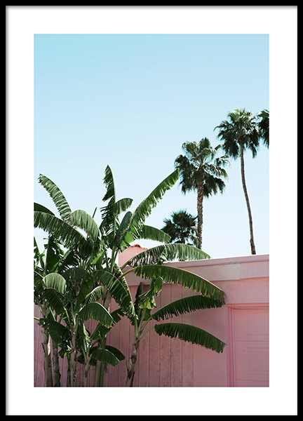 Pink Banana Leaves Poster in the group Studio / Coast to coast / Studio Palm Springs at Desenio AB (10791)